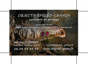 Carte de visite speleo canyon