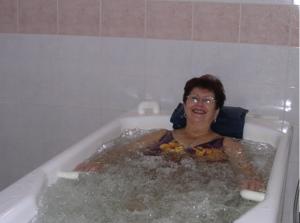 bains aérobains ou en immersion à l'eau thermale