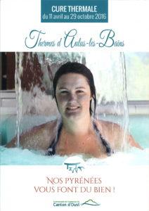 Couverture brochure 2016 cure thermale aux Thermes d Aulus les Bains